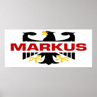 Markus Surname Poster