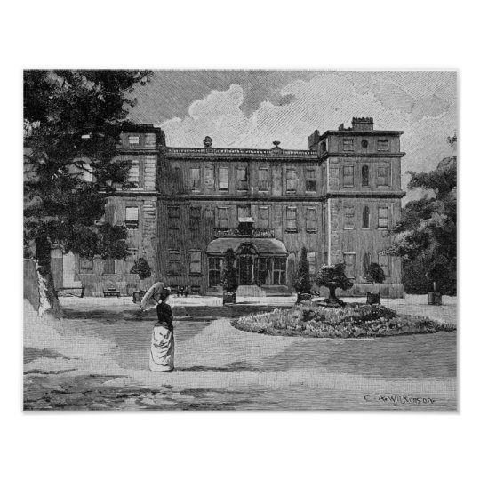 Marlborough House, from the garden, 1863 Poster