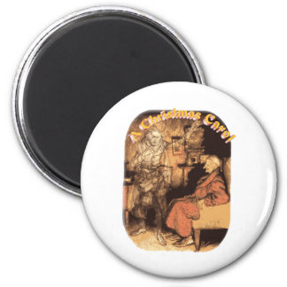 Marley and Scrooge 6 Cm Round Magnet