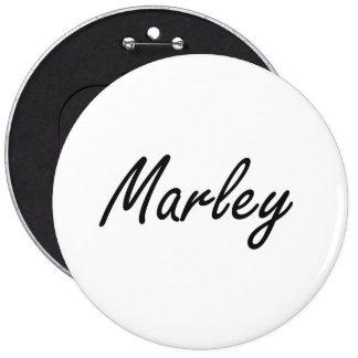 Marley artistic Name Design 6 Cm Round Badge