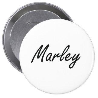 Marley artistic Name Design 10 Cm Round Badge