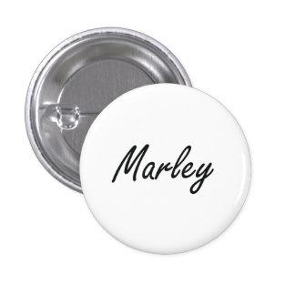 Marley artistic Name Design 3 Cm Round Badge
