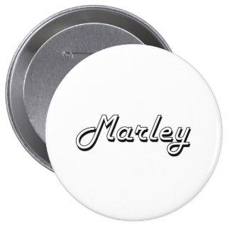 Marley Classic Retro Name Design 10 Cm Round Badge