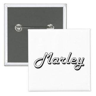 Marley Classic Retro Name Design 2 Inch Square Button