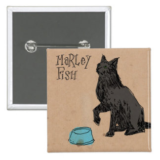 Marley Fish Supper Time 15 Cm Square Badge