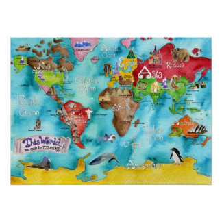 Marley Ungaro s THIS WORLD children s map Posters