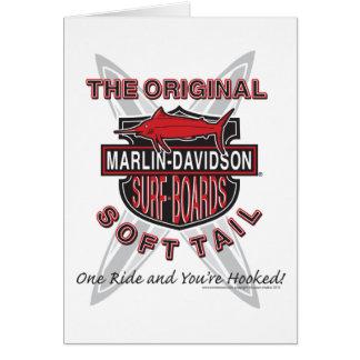 Marlin Davidsons Surf Boards Greeting Card