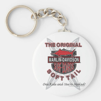 Marlin Davidsons Surf Boards Basic Round Button Key Ring