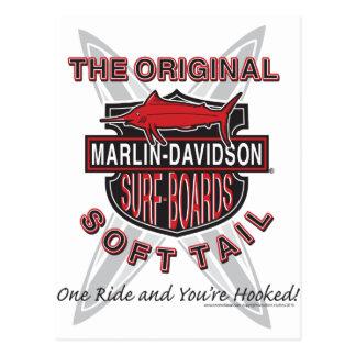 Marlin Davidsons Surf Boards Postcard