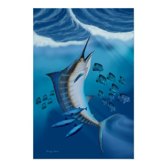 Marlin Fish Print