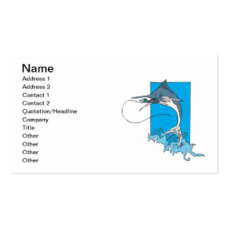 Marlin Fishing Pack Of Standard Business Cards