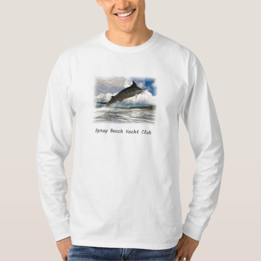 marlin painted, Spray Beach Yacht Club T-Shirt