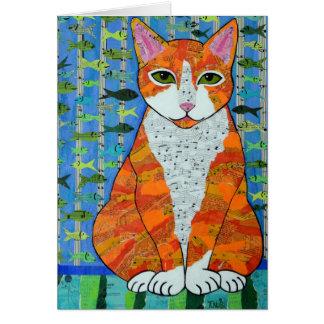 Marmalade Cat Card