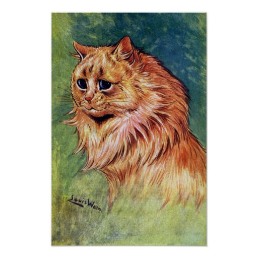 Marmalade Cat with Blue Eyes Posters
