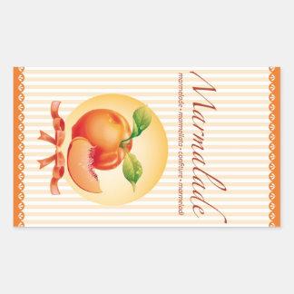 Marmalade vertical etiquette rectangular sticker