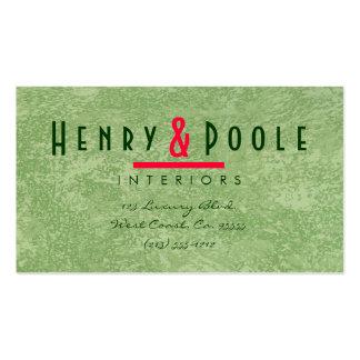 Marmorino Plaster Interior Designer Pack Of Standard Business Cards