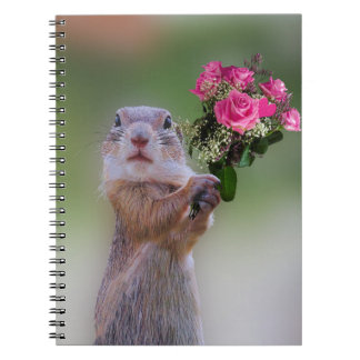 Marmot bouquet spiral notebook