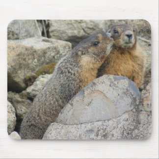 Marmot Love Mouse Mat