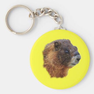 Marmot Portrait Basic Round Button Key Ring