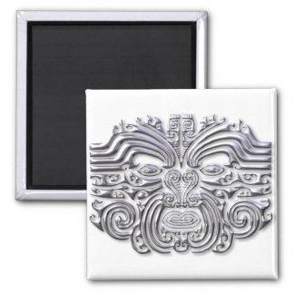 Maroi tattoo-silver square magnet