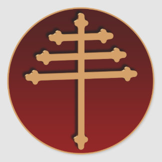Maronite Cross Gold Sticker
