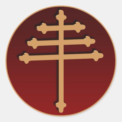 Maronite Cross Gold Sticker