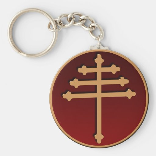 Maronite Cross Keychain