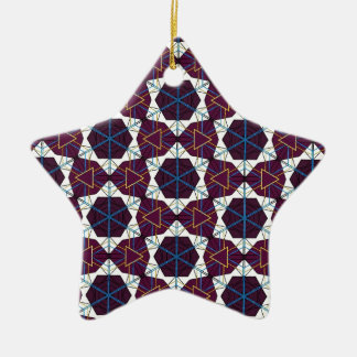 Maroon1 Ceramic Star Decoration