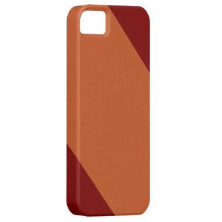 Maroon and Burnt Orange-Striped IPhone 5 Case