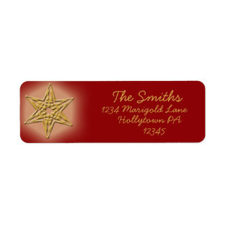 Maroon and Gold Custom Address Labels
