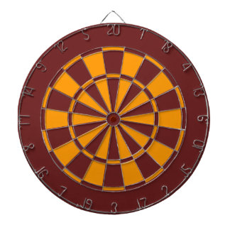 Maroon and Gold Dartboard