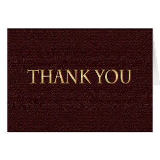 Maroon and Gold Graduation Thank You Card