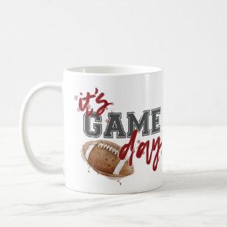 Maroon and Gray Game Day Mug