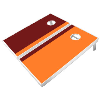 Maroon and Orange Add Your Logo Cornhole Set