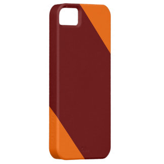 Maroon and Orange-Striped IPhone 5 Case