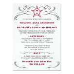 Maroon and White Southern Style Wedding Invitation
