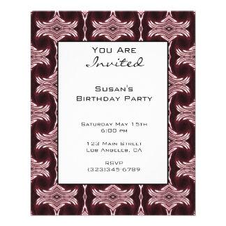 Maroon Art Deco Invitation 11.5 Cm X 14 Cm Flyer