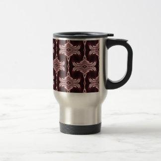 Maroon Art Deco Pattern Mug