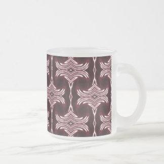 Maroon Art Deco Pattern Mugs