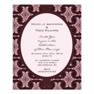Maroon Art Deco Wedding Custom Flyer
