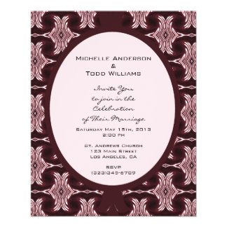 Maroon Art Deco Wedding 11.5 Cm X 14 Cm Flyer