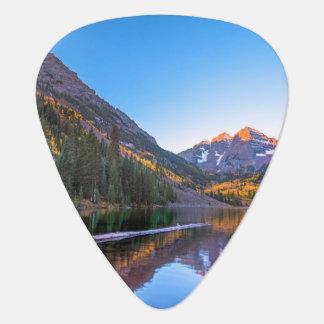 Maroon Bells Alpen Glow Guitar Pick
