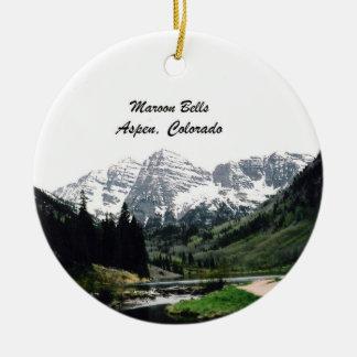 Maroon Bells, Aspen, Colorado Round Ceramic Decoration