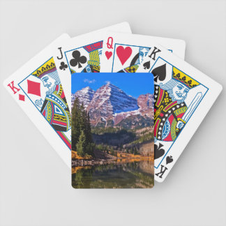 Maroon Bells Bicycle Playing Cards