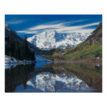 Maroon Bells in White River National Forest in Poster