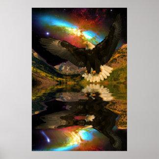 Maroon-Bells-portrait-W-Eagle-1 Poster