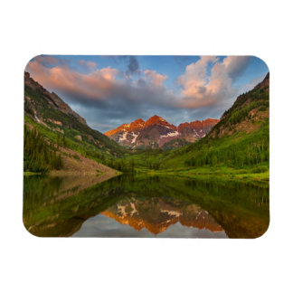 Maroon Bells Reflect Into Calm Maroon Lake 2 Rectangular Photo Magnet