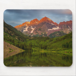 Maroon Bells Reflect Into Calm Maroon Lake 3 Mouse Mat