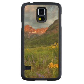 Maroon Bells Reflect Into Calm Maroon Lake Carved Maple Galaxy S5 Case