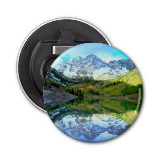 Maroon Bells reflecting in Maroon Lake